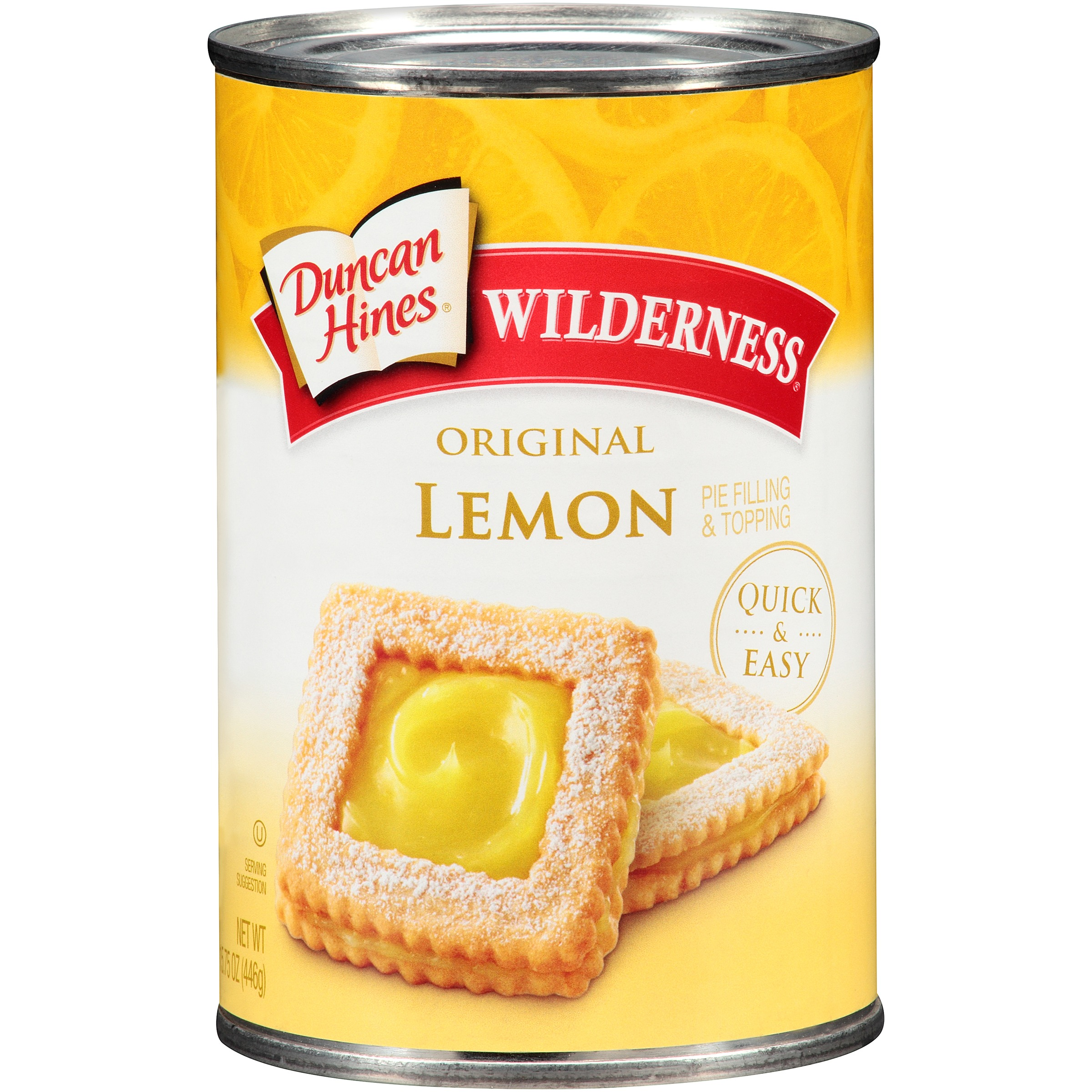 Duncan Hines® Wilderness® Original Lemon Pie Filling & Topping 15.75 oz. Can