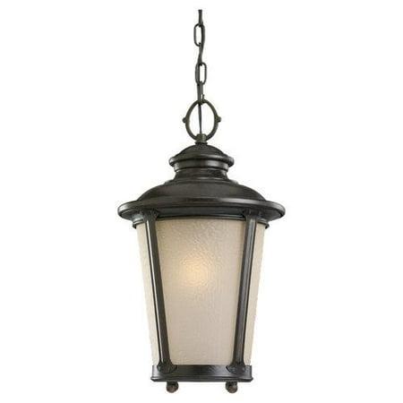 Sea Gull Lighting 60240-780 Cape May 1-Light Outdoor Pendant Burled Iron (Iron Finish Light Kits)