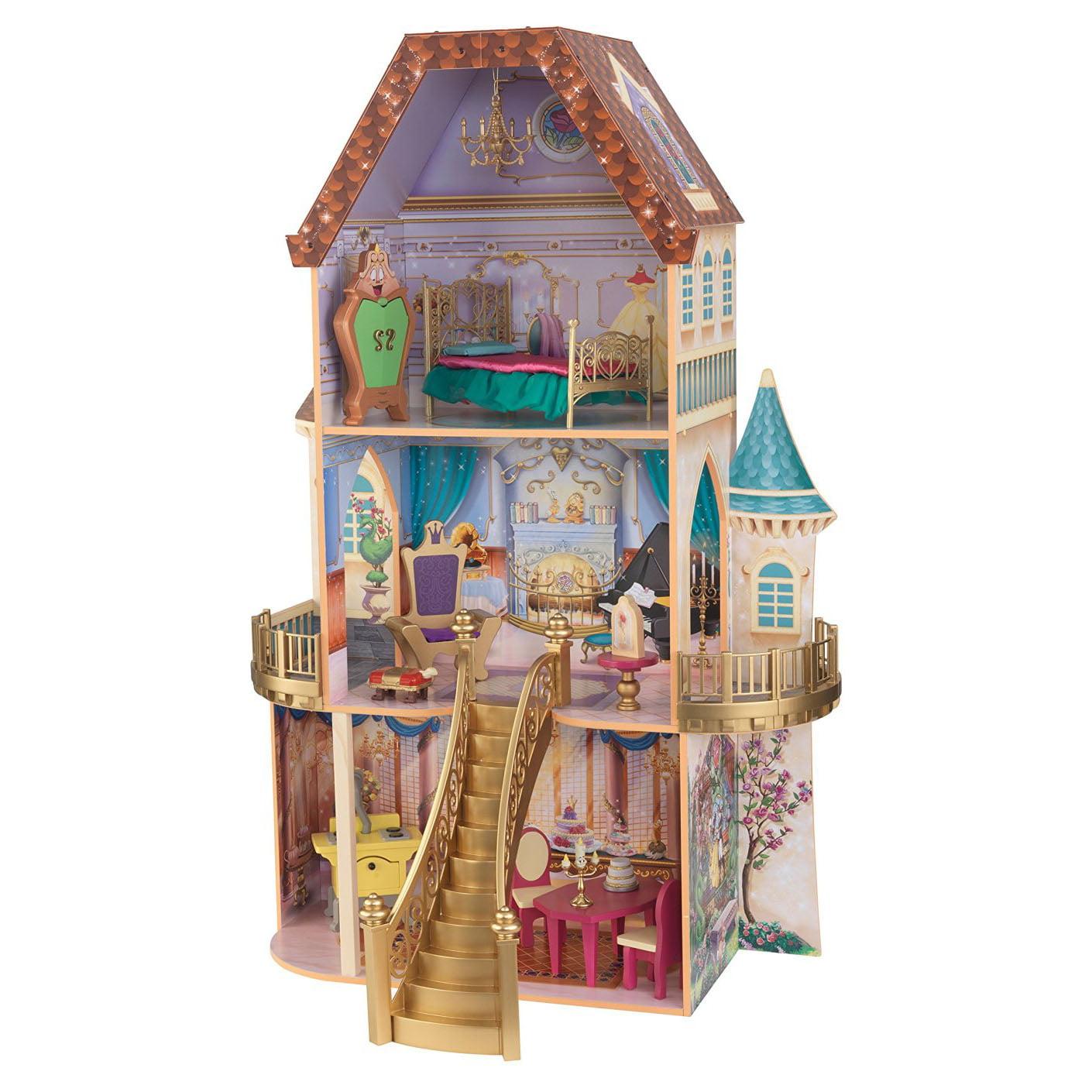 Kid Kraft Belle's Enchanted Dollhouse Barbie Dollhouse fo...