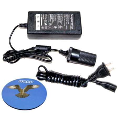 HQRP AC Adapter 110V to 12V 5Amp Converter Battery Charger for Black & Decker PAV1200W 12-Volt Cyclonic-Action Automotive Pivoting-Nose Handheld Vacuum Cleaner plus HQRP Coaster