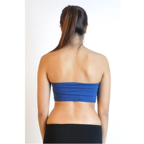 Junior Bandeau Strapless Tube Top with Pad (One Size Fits All) - Royal Blue