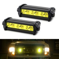 iJDMTOY (2) High Power 3-CREE LED Daytime Running Light Kit For Behind The Grille or Lower Bumper Insert Area, 3000K Yellow