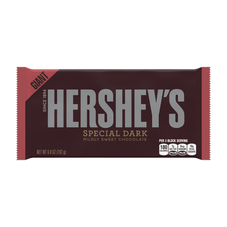 HERSHEY'S SPECIAL DARK Mildly Sweet Chocolate Bar, Giant, 6.8 Ounces (Pack of -