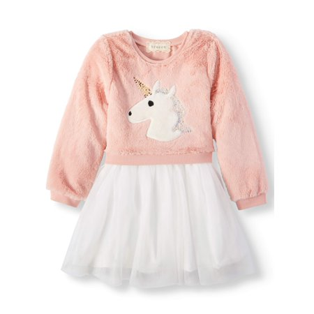 Sequin Critter Long Sleeve Tutu Dress (Little - Little Dress Up Shop Coupon Code