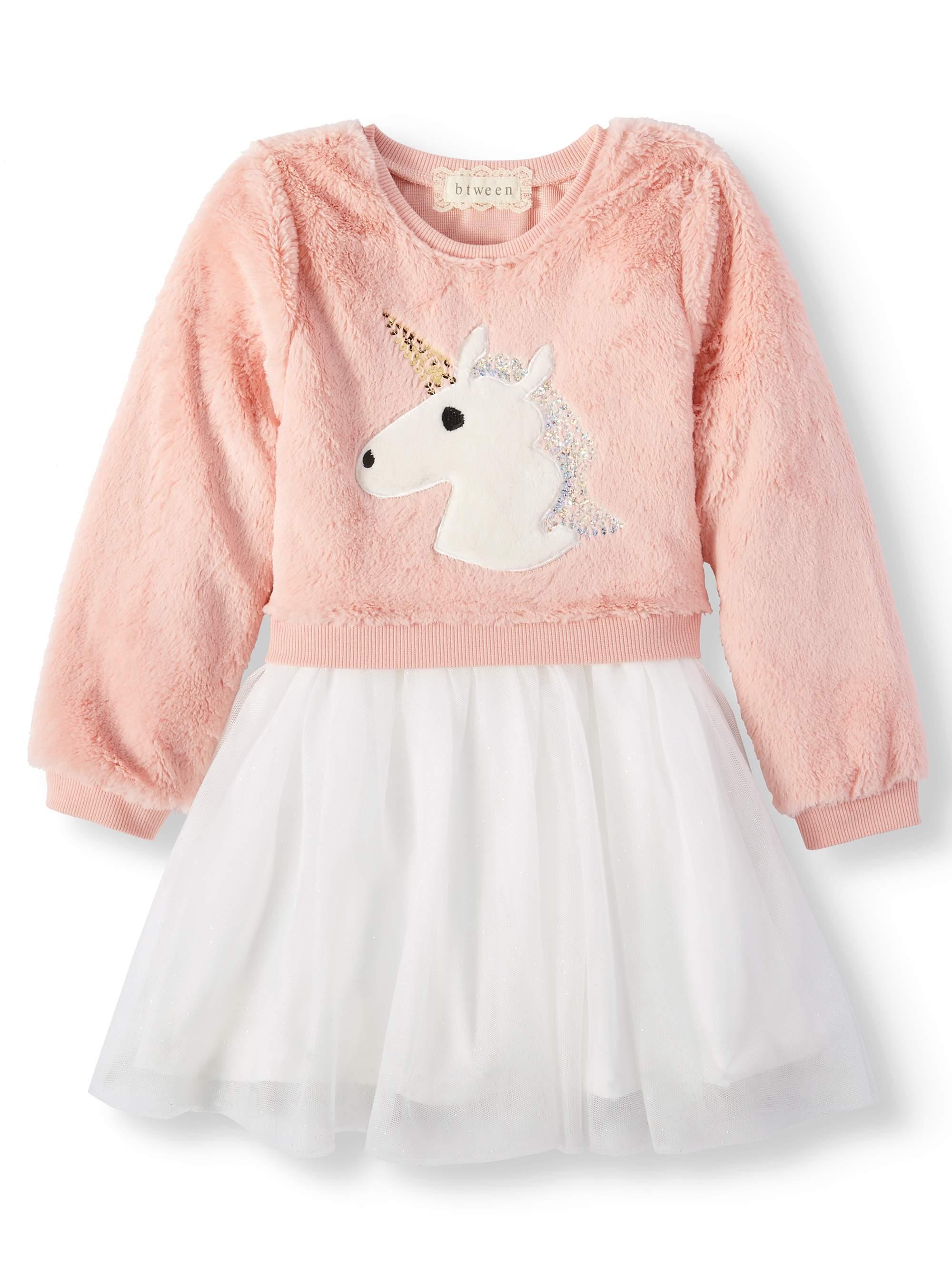 Little Girls' Sequin Critter Long Sleeve Tutu Dress
