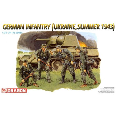 Dragon 6153 German Infantry Ukraine Summer 1943 1/35 Scale Plastic Model Figures ()