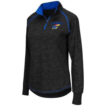 1988 Kansas Jayhawks Basketball - Womens NCAA Kansas Jayhawks Bikram Long Sleeve Quarter Zip Shirt