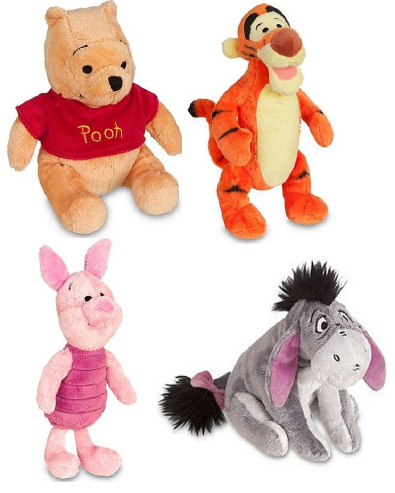 Winnie the Pooh [Piglet Tigger Winnie Eeyore] Mini Beanbag Plush Toy Figure Stuffed Animal (Collector Set of... by