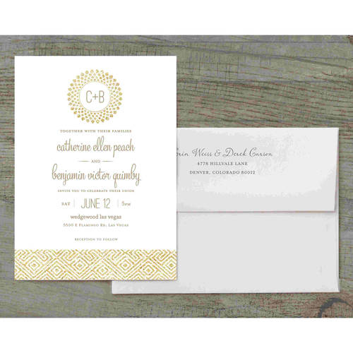 Glitter Bursts Deluxe Wedding Invitation
