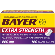 Pain Relievers: Bayer Extra Strength