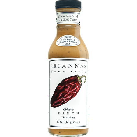 Chipotle Ranch - Briannas Dressing Chipotle Ranch, 12 OZ (Pack of 6)