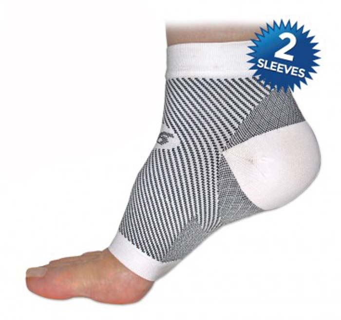 FS6 White Compression Foot Sleeves - SMALL (One Pair)