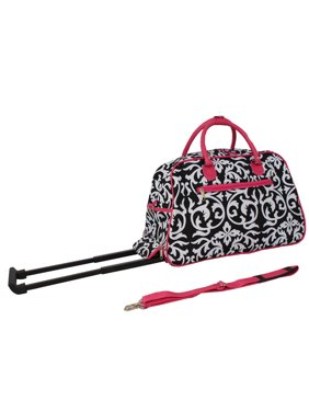 """All-Seasons Vacation Deluxe 21"""" Carry-On Rolling Duffel Bag - Zebra"""