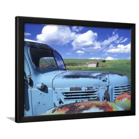 - Old Truck, Palouse Region, near Pullman, Washington, USA Framed Print Wall Art By Darrell Gulin