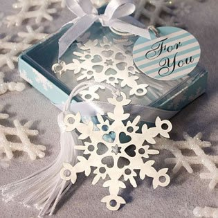 Snowflake Bookmark Wedding Favors: Perfect Winter Favors, 36, Measuring 5.25
