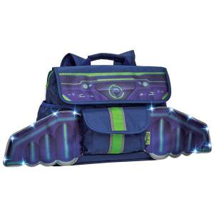 Bixbee Space Racer Kids Backpack with Light Up LED Wings - Small - Light Up LED Wings - Patented Horizontal Design with Ergonomic Attributes - Plenty of Space - Comfortable
