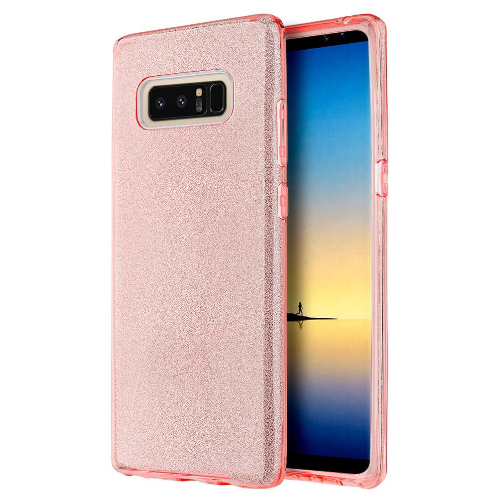 Samsung Galaxy Case,Premium Luxury Designer Case Shining Fashion Style TPU Cover for Samsung Galaxy Note 8 - Pink,Raised Bezels, Slim, ShockProof