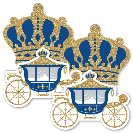 Royal Prince Charming - Crown & Carriage Decorations DIY Baby Shower or Birthday Party Essentials - Set of 20 (Royal Prince Baby Shower Ideas)
