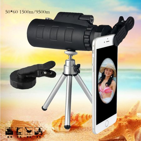50x60 Phone Telescope Camera Lens Night Vision Universal for Smartphone Travel Hiking Concert