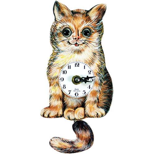 Black Forest Cat Clock