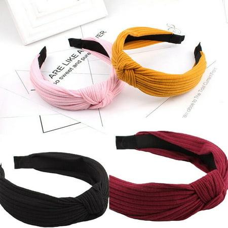 - Women Turban Crochet Twist Knitted Headwrap Headband Winter Warmer Hair Band