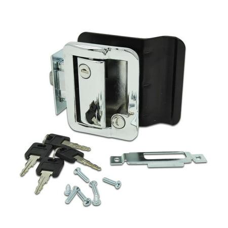 New Chrome RV Entry Door Lock w / deadbolt Camper Travel