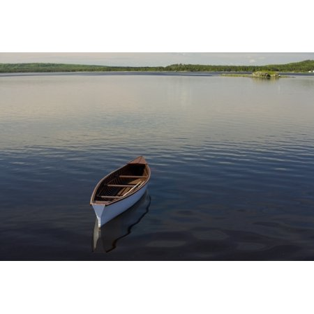 Canoe On Gander River Gander Bay Newfoundland And Labrador Posterprint
