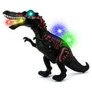 Dino Valley Spinosaurus Battery Operated Walking Toy Dinosaur Figure w  Realistic Movement, Lights and Sounds (Colors... by Velocity Toys