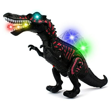 Dino Valley Spinosaurus Battery Operated Walking Toy Dinosaur Figure w/ Realistic Movement, Lights and Sounds (Colors May Vary) - Realistic Dinosaur