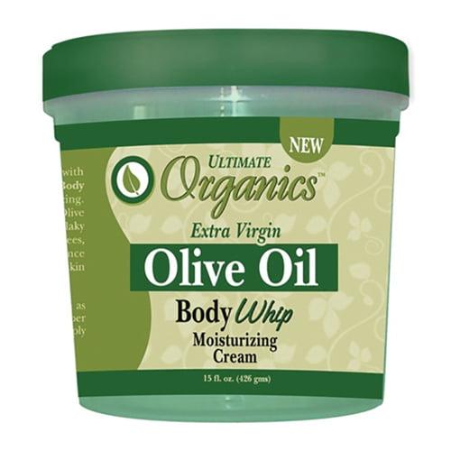 Africas Best Ultimate Originals Extra-Virgin Olive Oil Moisturizing Body Whip Cream, 15 Oz
