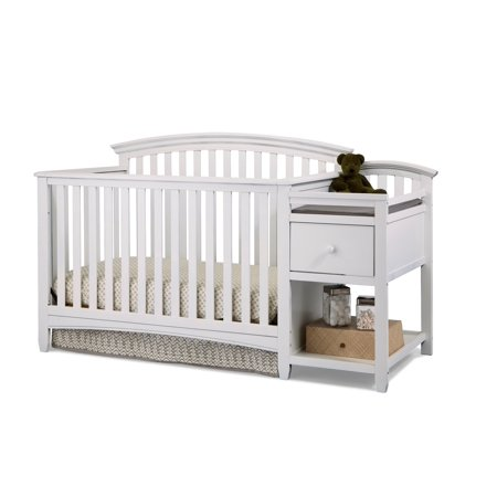 Imagio Baby Montville 4 in 1 Crib and Changer Combo with Pad,WHT