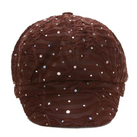 Sequin Newsboy Hat Cap - TopHeadwear Glitter Sequin Trim Newsboy Hat