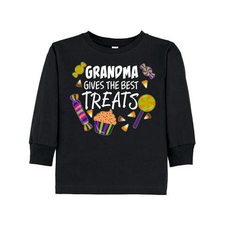 Grandma Gives the Best Treats- Halloween candy Toddler Long Sleeve - Best Halloween Treats