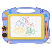 Magnetic Drawing Board Erasable for Kids - Colorful Magna Doodle Drawing Board Toys - Gifts for Toddlers Kids Writing Sketching Pad - Travel Size