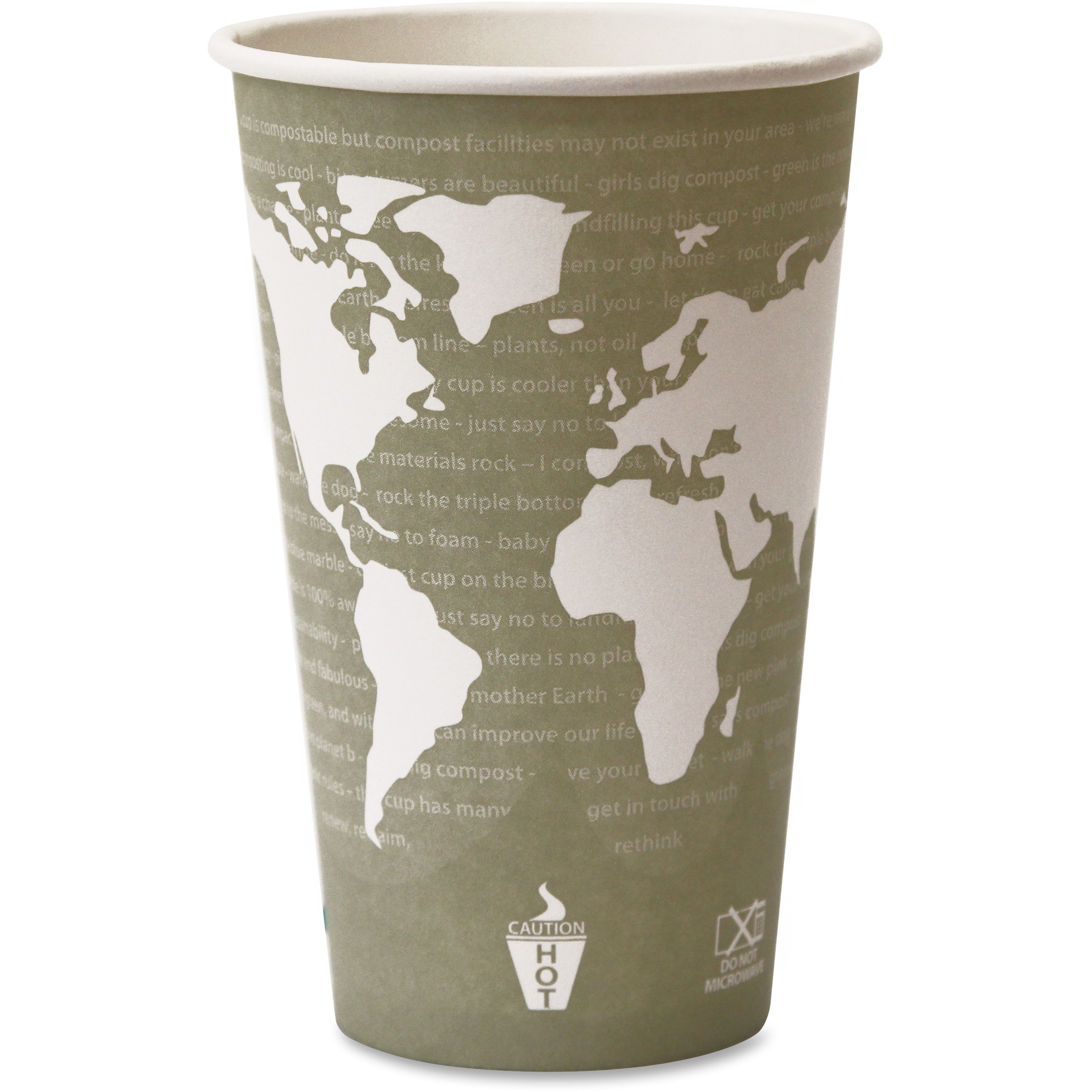 Eco-Products, ECOEPBHC16WA, World Art Hot Beverage Cups, 1000 / Carton, Multi, 16 fl oz