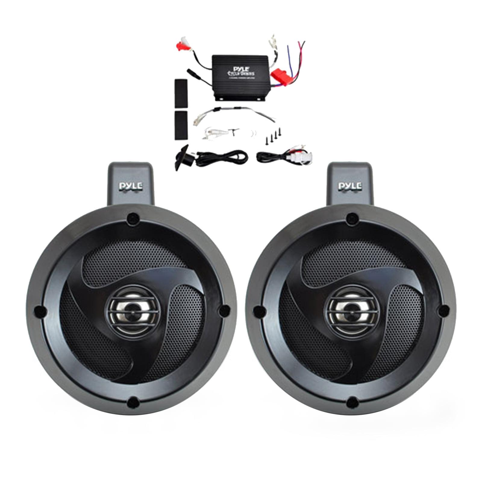 """2 Channel Waterproof Dual Wakeboard 4"""" UTV/ATV/Snowmobile/Marine Amplified Speaker System Includes (2) 4"""" Marine Grade Speakers"""