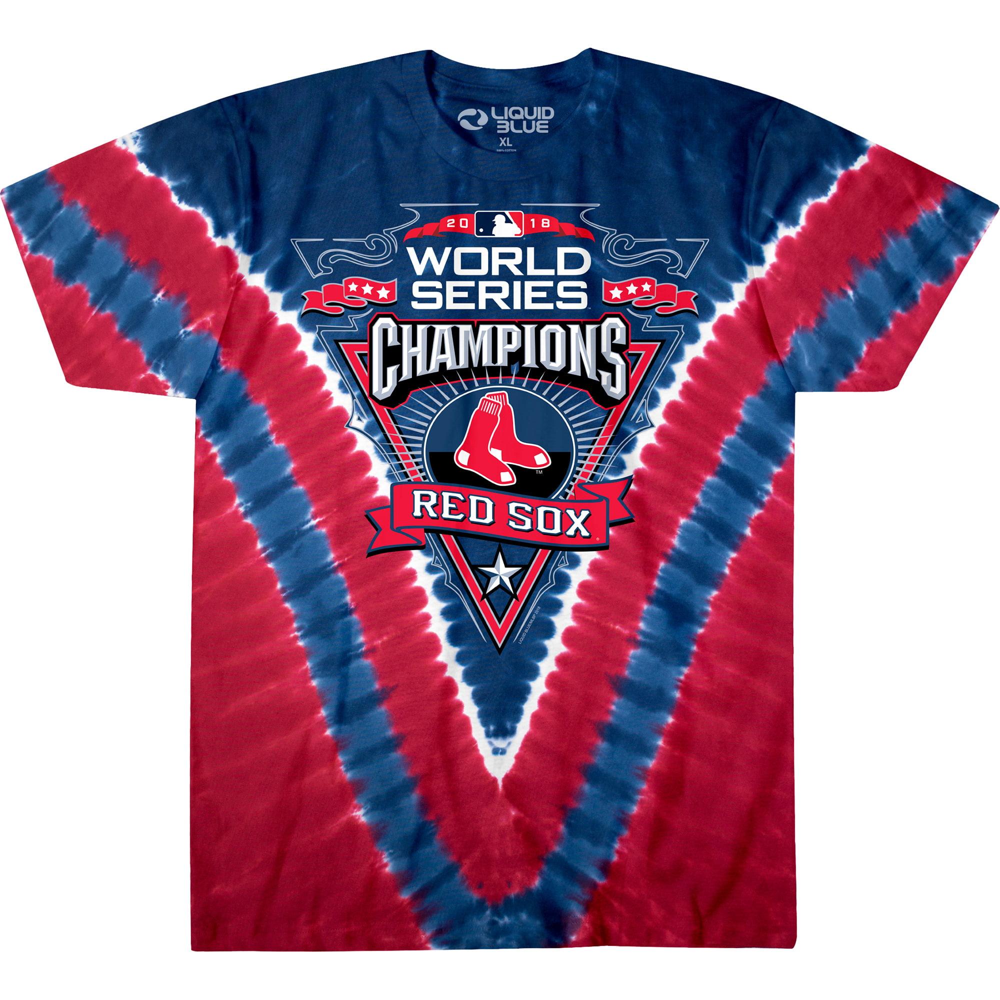 Boston Red Sox 2018 World Series Champions V-Dye T-Shirt - Red