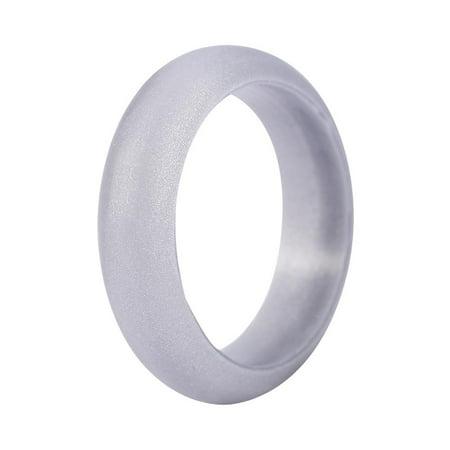 Yosoo 5 Sizes 7pcs Colors Women Silicone Wedding Ring Set Outdoor