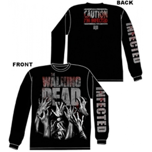 Long Sleeve: The Walking Dead- Infected Hands (Front/Back) Longsleeve Shirt Size M