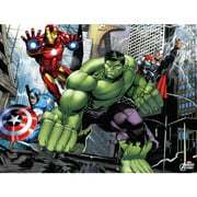 Marvel Avengers Landscape Canvas Wall Art with LED