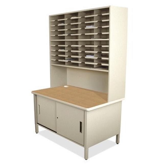 Marvel Group UTIL0064-UT 40 Slot Mailroom Organizer with Cabinet & Riser, Putty