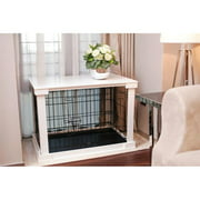 """Merry Products Dog Cage with Cover, White, Small, 20.71""""L x 27.20""""W x 22.09""""H"""