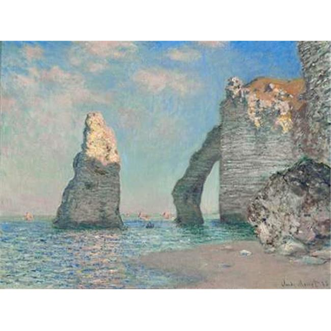Tangletown Fine Art The Cliffs at Etretat by Claude Monet Poster Frame - 28 x 38 x 1.5 in.