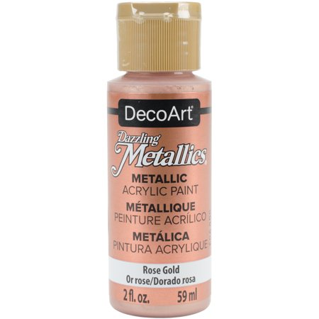 Dazzling Metallics Acrylic Paint 2oz-Rose Gold (Metallic Fabric Paint)