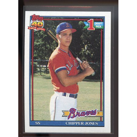 1991 Topps 333 Chipper Jones Atlanta Braves Rookie Card