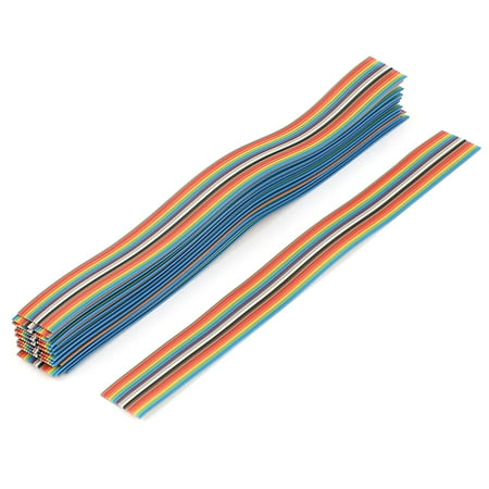20pcs 200mm Long 16-Pin Rainbow Color Flat Ribbon Cable IDC Wire - image 2 of 2