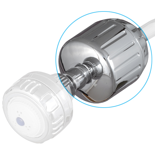 Sprite Chrome Soild Brass Shower Filter Without Shower Head