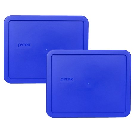 Pyrex Replacement Lid 7212-PC 11-Cup Cobalt Blue Rectangle Cover (2-Pack) for Pyrex 7212 Dish (Sold Separately)