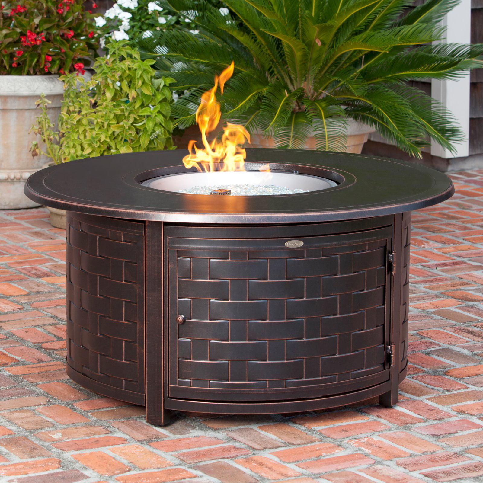 Fire Sense Perissa Woven Round Cast Aluminum Propane Gas ...