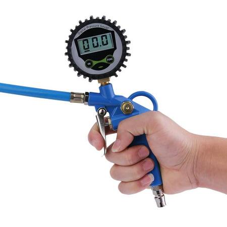 Electronics Digital Display Tire Gun Car Tire Pressure Gauge Inflator Gun